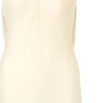 illusion line slim dress cream